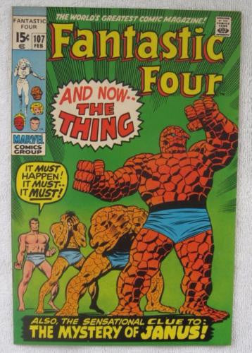 Fantastic Four #107 (Feb 1971, Marvel) High Grade VF+ 8.5