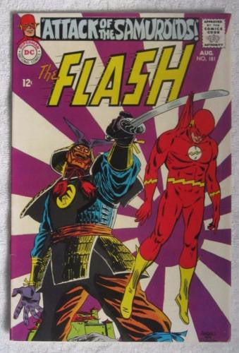 The Flash #181 (Aug 1968, DC) VF- 7.5