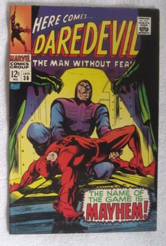 Daredevil #36 (Jan 1968, Marvel) Dr Doom app VF- 7.5