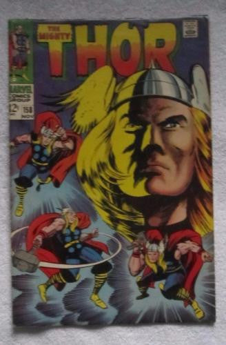Thor #158 (Nov 1968, Marvel) Origin Dr Blake F/VF 7.0