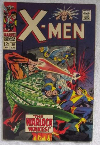 The X-Men #30 (Mar 1967, Marvel) Kirby pencils High Grade VF+ 8.5