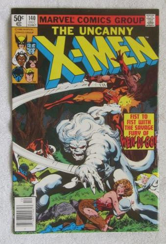 The X-Men #140 (Dec 1980, Marvel) Alpha Flight app Byrne pencils  VF/NM 9.0