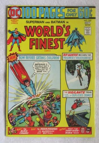World's Finest Comics #225 (Sep-Oct 1974, DC) 100 Pages Fine+ 6.5