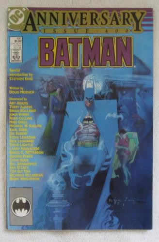 Batman #400 (Oct 1986, DC) Special intro by Stephen King High Grade VF+ 8.5