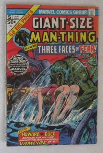 Giant-Size Man-Thing #5 (Aug 1975, Marvel) Howard The Duck VF/NM 9.0