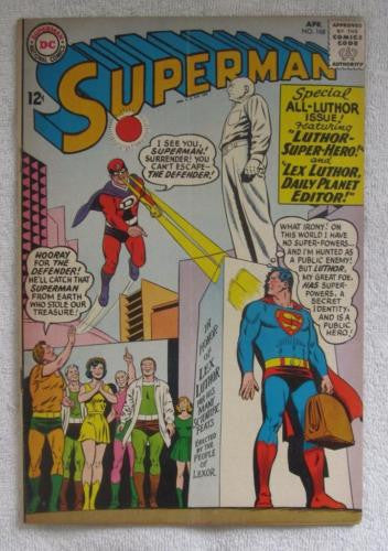 Superman #168 (Apr 1964, DC) Curt Swan pencils VG 4.0