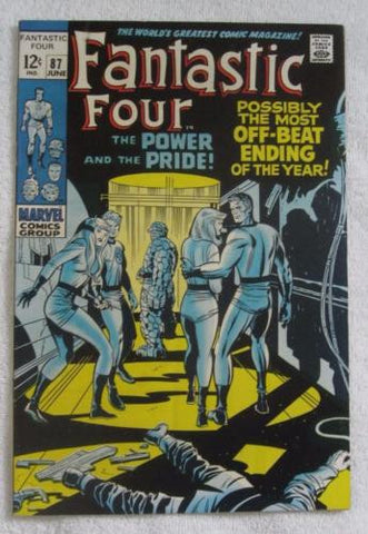 Fantastic Four #87 (Jun 1969, Marvel) Kirby pencils High Grade VF/NM 9.0