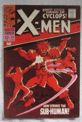 The X-Men #41 (Feb 1968, Marvel) High Grade VF+ 8.5