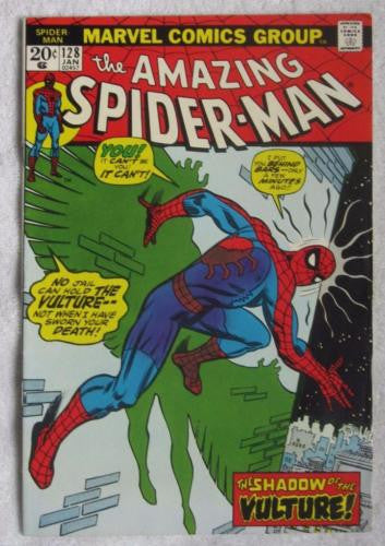The Amazing Spider-Man #128 (Jan 1974, Marvel) Romita art VF- 7.5
