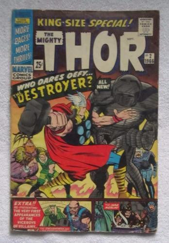 Thor King Size Annual #2 (Sep 1966, Marvel) Kirby pencils VG 4.0