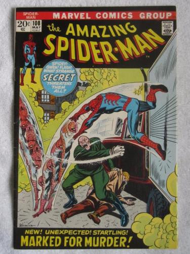 The Amazing Spider-Man #108 (May 1972, Marvel) Stan Lee script FN+ 6.5