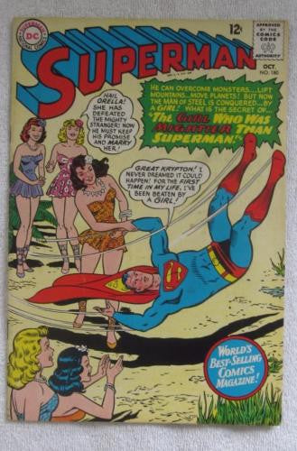 Superman #180 (Oct 1965, DC) Curt Swan pencils VG 4.0