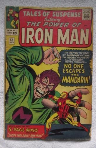 Tales of Suspense #55 (Jul 1964, Marvel) 3rd app Mandarin Kirby pencils G 2.0