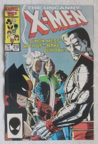 The Uncanny X-Men #210 (Oct 1986, Marvel) Mutant Massacre High Grade VF/NM 9.0