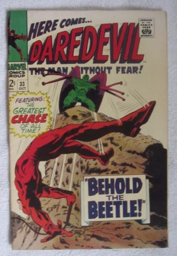 Daredevil #33 (Oct 1967, Marvel) Gene Colan pencils High Grade VF 8.0