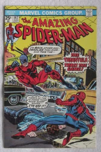The Amazing Spider-Man #147 (Aug 1975,Marvel) Gwen Stacy clone VF- 7.5