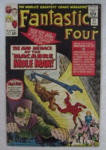 Fantastic Four #31 (Oct 1964, Marvel) Kirby pencils Avengers crossover G/VG 3.0