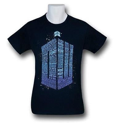 Doctor Who Phrases Logo Men's T-Shirt M-XL
