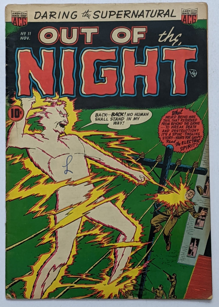 Out of the Night #11 (Nov 1953, ACG) VG- 3.5 Ken Bald cover