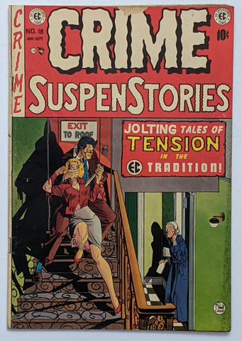Crime SuspenStories #18 (Sept 1953, EC) G/VG 3.0 Johnny Craig cover
