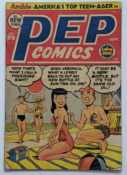 Pep Comics #99 (Sept 1953, Archie) VG 4.0
