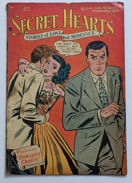 Secret Hearts #16 (Jul 1953, DC) Good 2.0