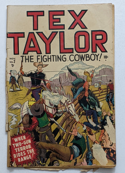 Tex Taylor #2 (Nov 1948, Timely) Fair/Good 1.5 No graded copies in CGC Census