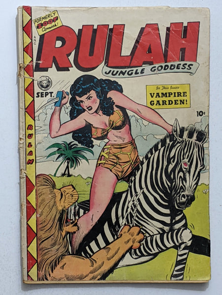 Rulah Jungle Godess #18 (Sept 1948, Fox) Good 2.0 Jack Kamen cover