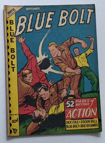 Blue Bolt Vol. 9 No. 4 (Sept 1948, Curtis) VG+ 4.5