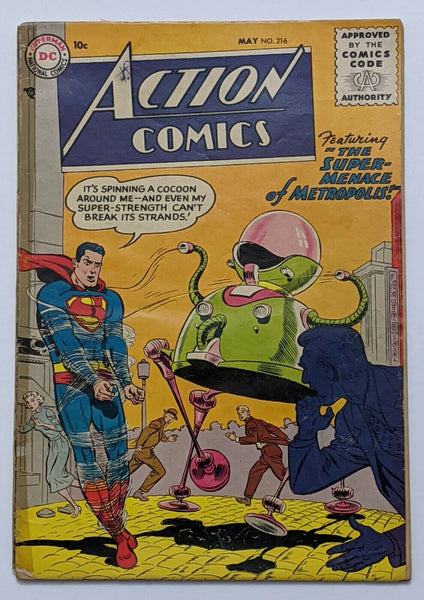 Action Comics #216 (May 1956, DC) Good - 1.8 Henry Boltinoff art