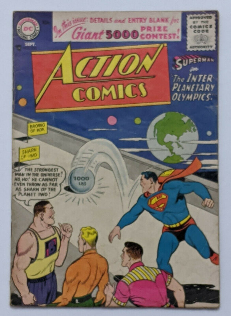 Action Comics #220 (Sept 1956, DC) VG- 3.5 Henry Boltinoff art