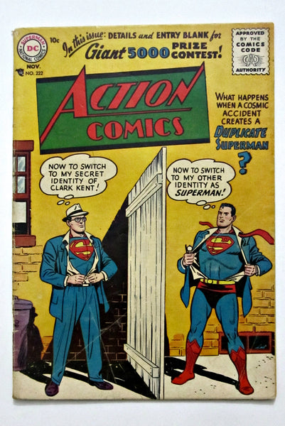 Action Comics #222 (Nov 1956, DC) VG 4.0
