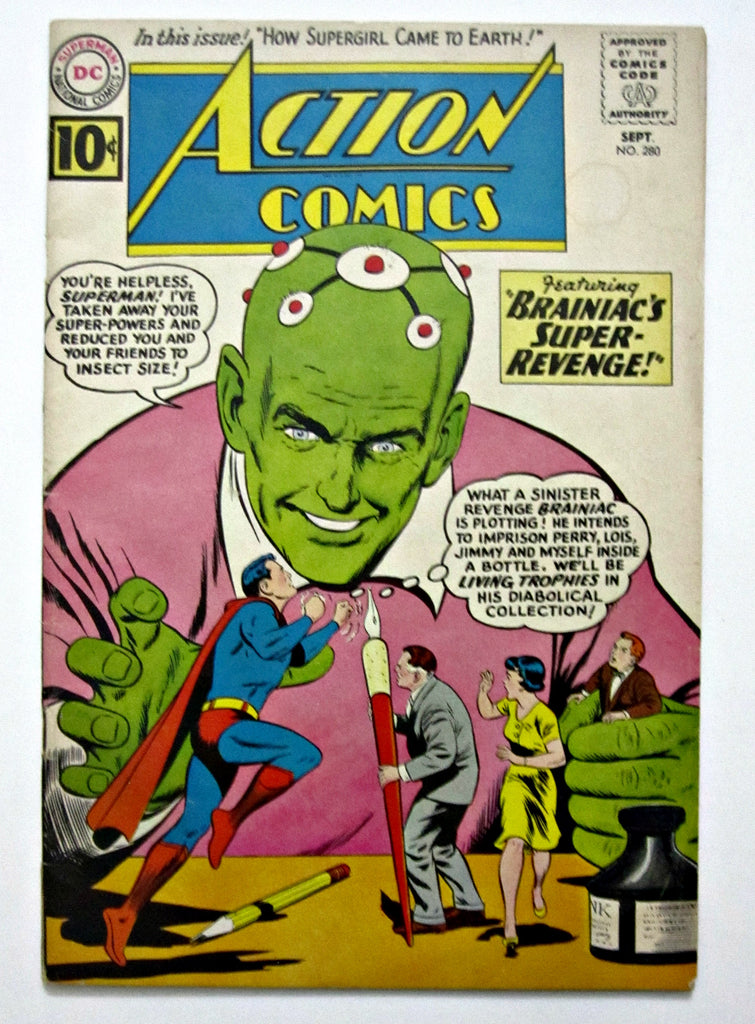 Action Comics #280 (Sep 1961, DC) Braniac app VG+ 4.5
