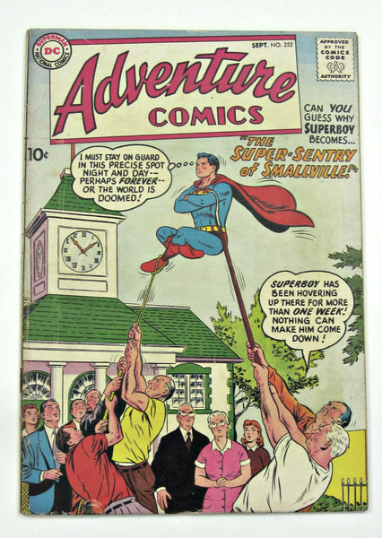 Adventure Comics #252 (Sept 1958, DC Superman) VG- 3.5