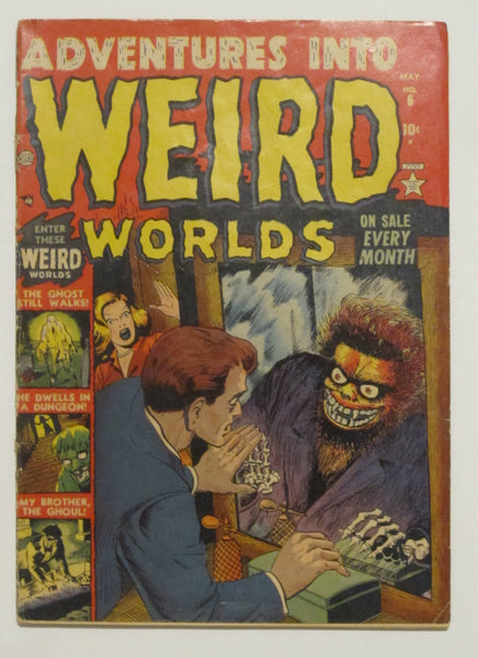 Adventures Into Weird Worlds #6 (May 1952, Atlas) VG 4.0