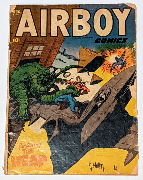 Airboy Comics Vol. 9 No. 7 (Aug 1952, Hillman) Good- 1.8 One page Frank Frazetta