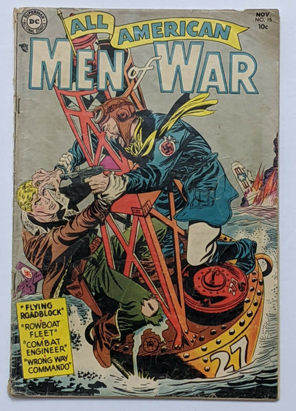 All American Men Of War #15 (Nov 1954, DC) Good+ 2.5 Pre-Code War