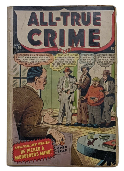 All True Crime Cases #30 (Nov 1948, Atlas) Good 2.0