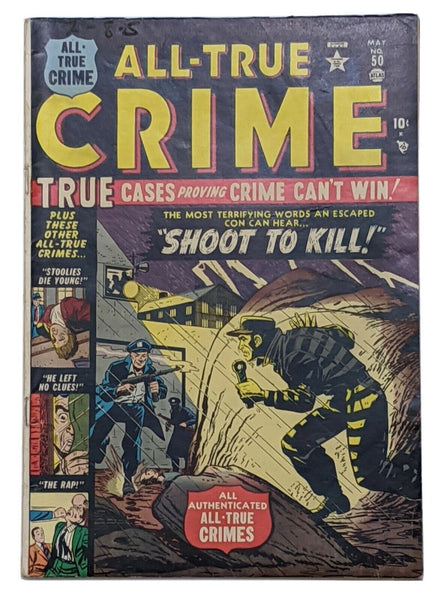 All True Crime #50 (May 1952, Atlas) VG/FN 5.0 Jerry Robinson art
