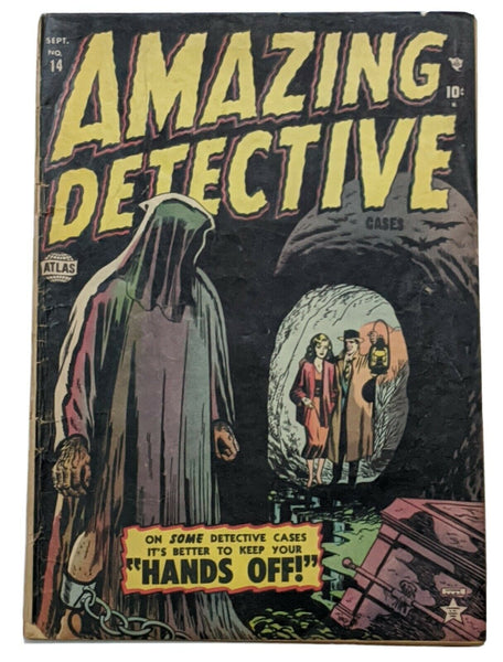 Amazing Detective Cases #14 (Sept 1952, Atlas) Good- 1.8 Last issue in the title