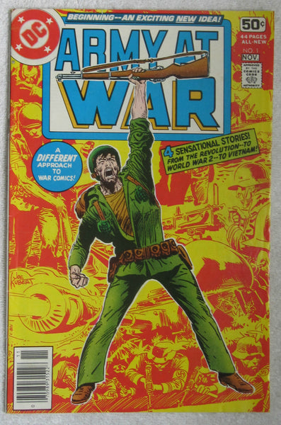 Army at War #1 (Oct-Nov 1978, DC) Kubert cvr VG/F 5.0