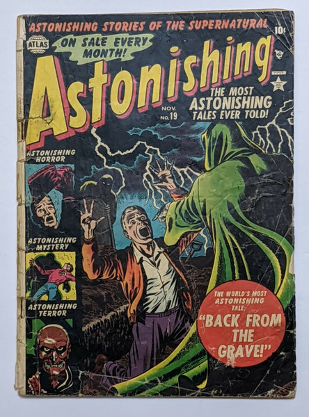 Astonishing #19 (Nov 1952, Atlas) Good- 1.8 Russ Heath cvr Stan Lee Story