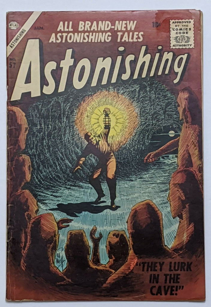 Astonishing #57 (Jan 1957, Atlas) VG- 3.5 Bill Everett cover