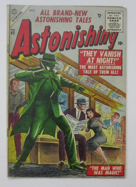 Astonishing #42 (Oct 1955, Atlas) Carl Burgos cvr FN- 5.5