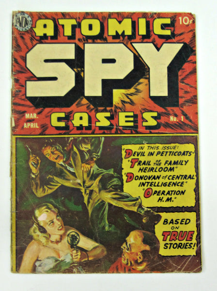 Atomic Spy Cases #1 (Mar-Apr 1950, Avon) Atomic Explosion Panels VG 4.0