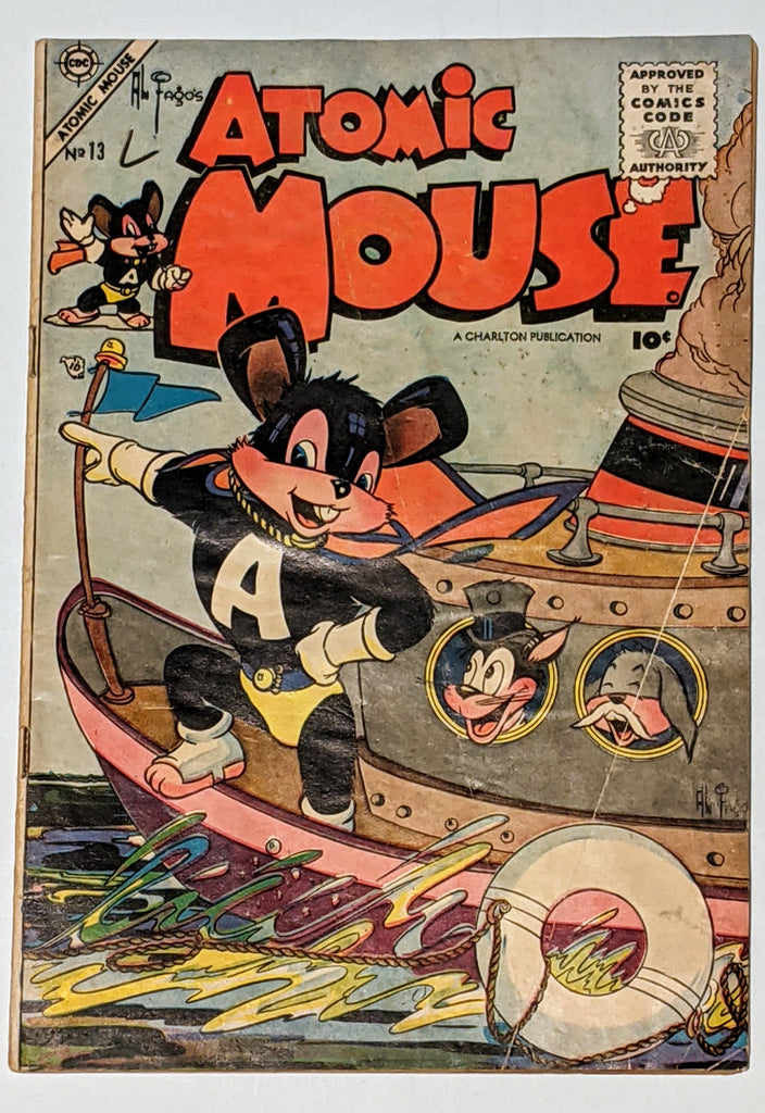 Atomic Mouse #13 (Apr 1955, Charlton) Good- 1.8 Al Fago cover