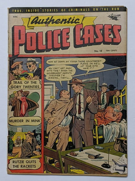 Authentic Police Cases #18 (Apr 1952, St. John) Good 2.0 Matt Baker cover
