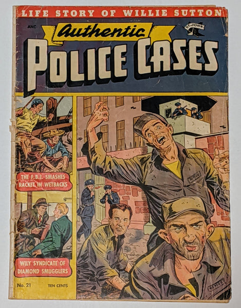 Authentic Police Cases #21 (Sept 1952, St. John) Good- 1.8