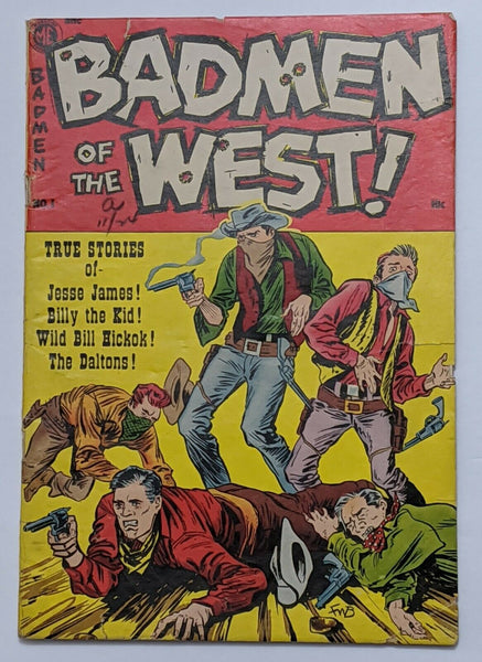 Badmen Of The West #1 (1953 Magazine Ent.) G/VG 3.0