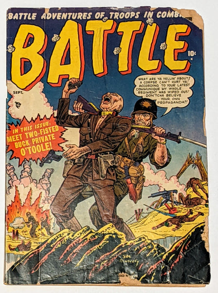 Battle #4 (Sept 1951, Atlas) Good- 1.8 Joe Maneely cover and art